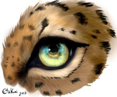 Ojo leopardo by Etskuni