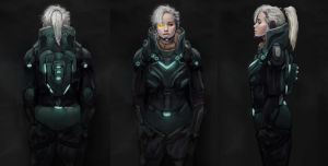 SciFi Female Character Concept Design by SupImLoryen