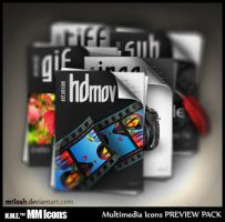 Multimedia Icons Preview Pack by m1losh