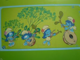 Smurfs girls stickers by HeinousFlame