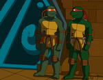 Raph and Mikey- Brothers forever by TMNTISLOVE
