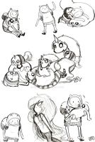 Adventure Time Sketches 9 by Celebi9