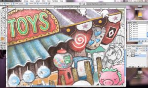 Sneak peek - mural II by frecklefaced29