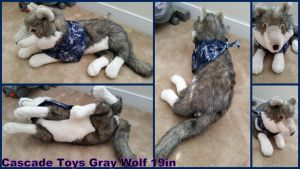 Cascade Toys Gray Wolf 19in by Vesperwolfy87