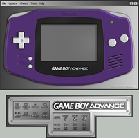 Gameboy Advance Indigo Skin by TheCloudOfSmoke
