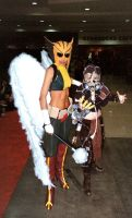 Hawkgirl and Scarecrow by ComfortablyEccentric
