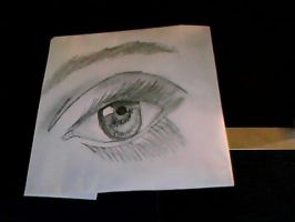 real eye drawing by Dragonxtom