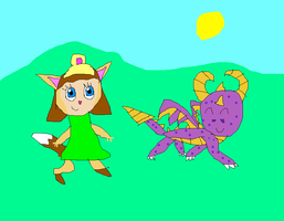 Skylanders Spyro and Elora by SuperSmashCynderLum