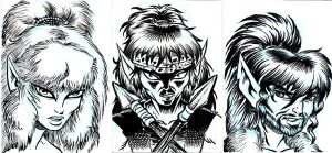 ElfQuest Chief SketchCards by ElfSong-Mat