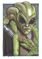 Kit Fisto - Sketch Card by J-Redd