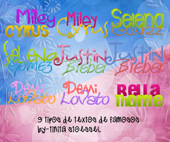 Photopack Textos Png de Famosos by bytinistoessel
