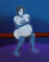 Cortana... on the Bench by MilkyBench