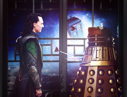 Loki and Dalek by AnnaProvidence