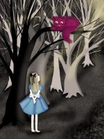 Alice and the Cheshire Cat by MademoiselleChouette