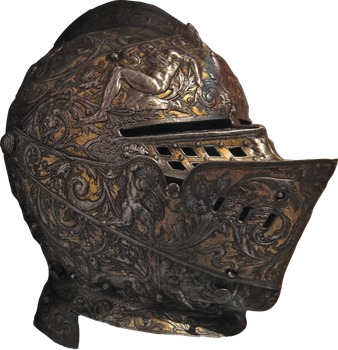 Ornate Helm PNG by simfonic