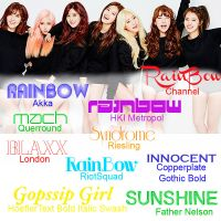 Rainbow fonts by IsaGall