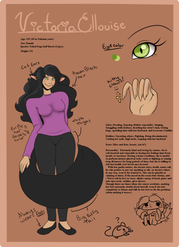Victoria reference sheet by Mega-Monochrome