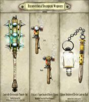 Unconventional Steampunk Weaponry by Sathiest-Emperor