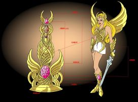 She-ra_Saint of crystal castle by FaGian
