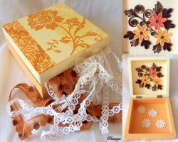 Decoupage box with quilling by pinterzsu