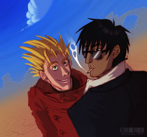 Vash'n'Wolfwood by Crazzity