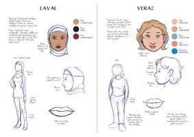 Refsheet: Layal and yeraz by Majnouna