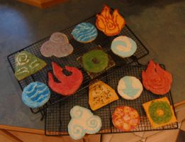 Avatar Cookies by PurpleJuneBug