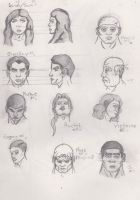 Illustration studies 2 Fe/Male Heads by Luck1