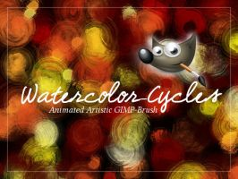 Gimp Brush Watercolor cycles by FrenchTeilhard