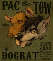 PAC AND TOW by grungepuppy