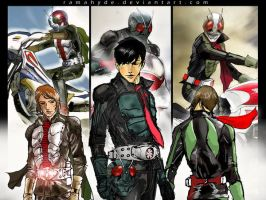 KAMEN RIDER THE NEXT 1,2, v3 by RAMAHYDE