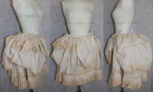 over and under victorian steampunk bustle skirt by AtelierSylpheCorsets