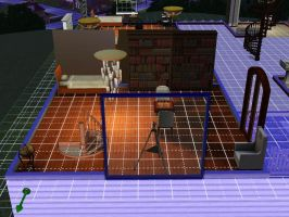 Sims 3 kh house vexen's room by TheeKozakura