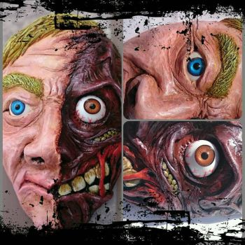 Two-Face Wall Art Sculpture by MarcMacabre