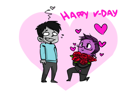 Vday gift to my dear friend! by Jacyll