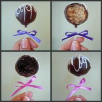 Chocolate Vanilla Cake Pops by PnJLover