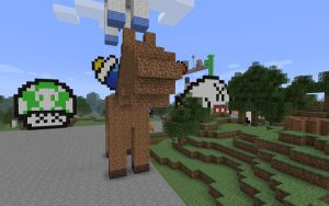 Minecraft - Dirt Horse Front by unusual229
