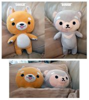 Doogie and Buur: Original Plushies by betrayal-and-wisdom