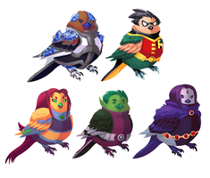Bird Titans by Shalmons