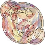 Stained Glass Skype Logo by m4ns4m