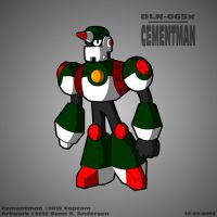Mega Man 9 (Alternate Universe) - Cement Man by TheRealSneakers