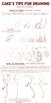 tutorial|Cake's tips for drawing: PAWS + ANATOMY by Cakeindafridge