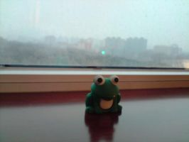 froggy does not want to go out by LPeregrinus
