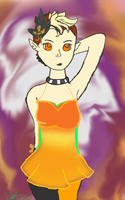 Caele Pumpkin dress by XNightdreamxDaymareX