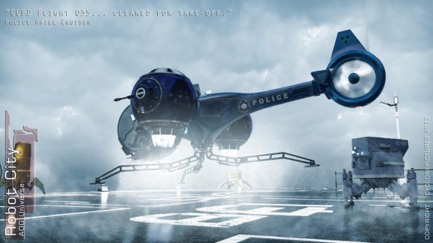 RCBk1Chapter4 - Police Aerial Cruise - Free Poster by AOGRAI
