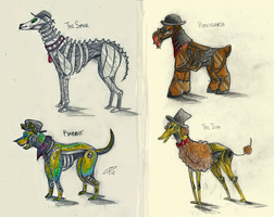SPG Robot Dogs! by Camilleonn