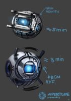 Wheatley from Portal 2 by Andy-Butnariu