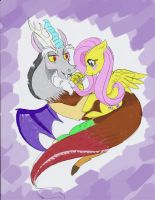 CRACK PAIRING fluttershy X discord UNFINISHED by A-Lucky-Mutt
