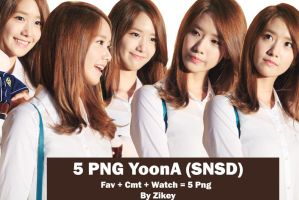 PackPNG YoonA(SNSD) By Zikey by LeeZikey