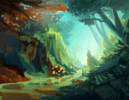 Forest Color test by ZeroCartin